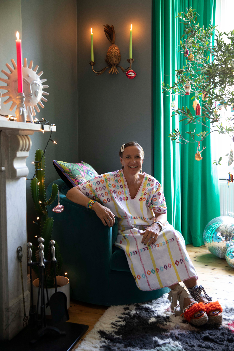 Zoe Anderson, founder of maximalist online homeware boutique wagreen.co.uk. Dopamine for the home